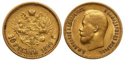Oroszország II.Miklós 10 rubel 1899