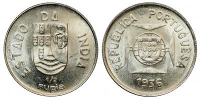 Portugal-India 1/2 rupee 1936