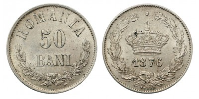 Romania 50 bani 1876