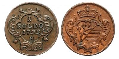 Gorizia 1 soldo 1799 H
