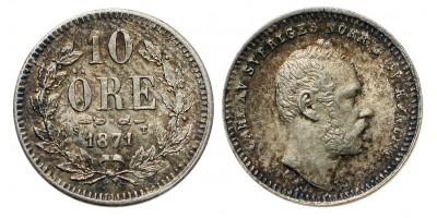 Svédország 10 öre 1871