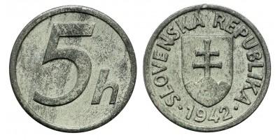 Szlovákia 5 haller 1942