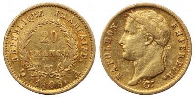 Franciaország I.Napoleon 20 frank 1808 A