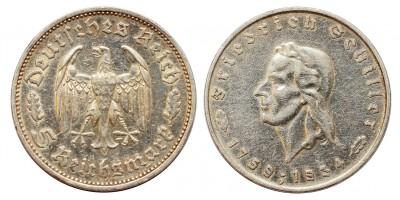 Németország III.Birodalom 5 márka  1934 F Friedrich Shiller