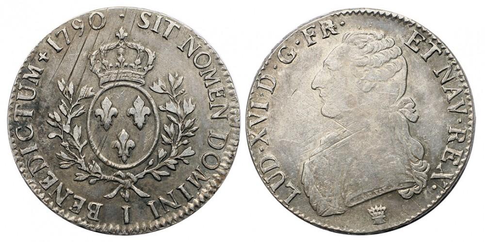 Franciaország XVI.Lajos ECU 1790 Limoges