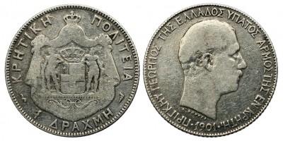 Görögország Kréta 1 drachma 1901