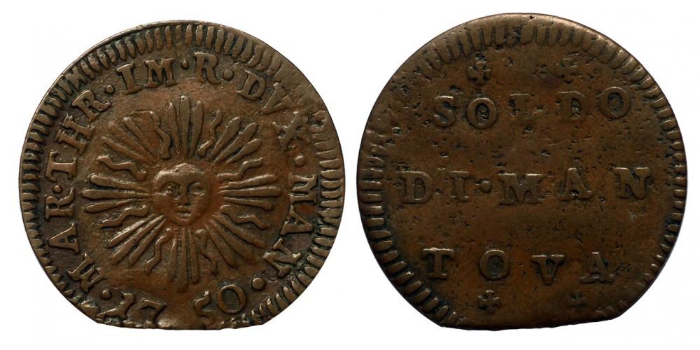 Olaszország Mantova 1 soldo 1750