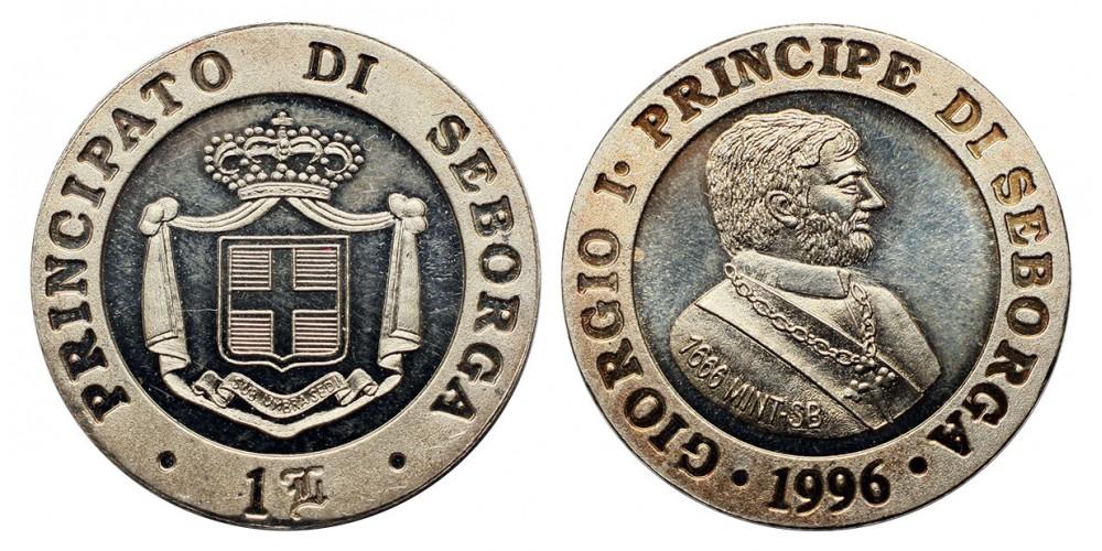 Seborga 1 luigiano 1996 PP