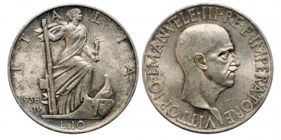 Olaszország 10 lira 1936