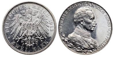 Németország Porosz 2 mark 1913 PP
