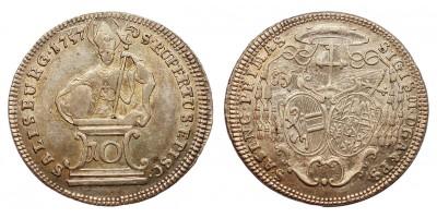 Salzburg Sigismund Graf von Schrattenbach, 1753 - 1771 10 krajcár 1757