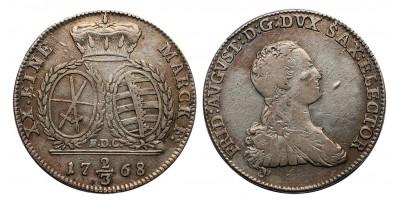 Szászország Frigyes Ágost 1763-1806 2/3 tallér 1768