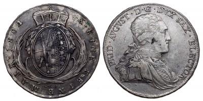 Szászország tallér 1804 S.G.H