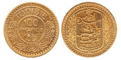 Tunézia 100 francs 1932