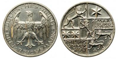 Weimar 3 márka 1927  Marburg