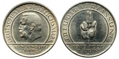 Weimar 3 márka 1929 D