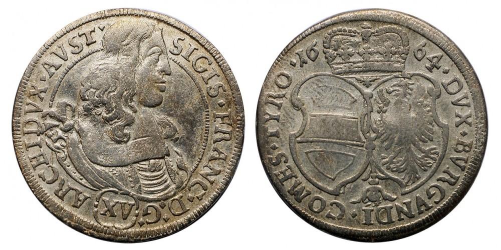 Zsigmond Ferenc XV krajcár 1664 Tirol
