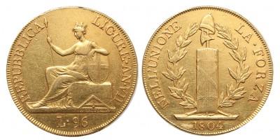 Ligur Köztársaság 96 lira 1804