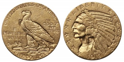 USA indiánfejes 5 dollár 1913