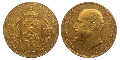 Bolgár Királyság I.Ferdinánd 100 leva 1908