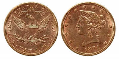 USA 10 dollár 1894