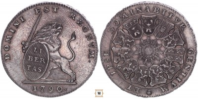 Németalföld 3 florin 1790 R!