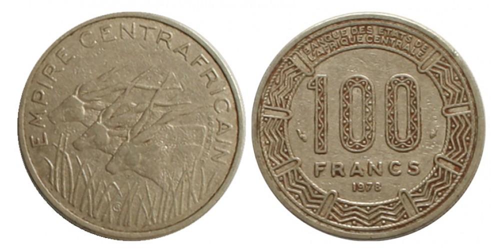 Közép-Afrikai Császárság 100 frank 1978 R!