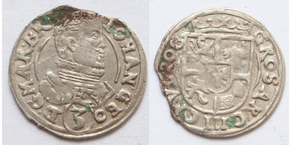 Németország Szilézia-Jägerndorf Johann Georg 3 krajcár 1620