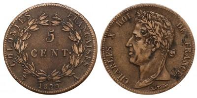 Francia Kolónia 5 Centimes 1829
