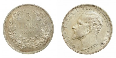 Bulgária 5 leva 1894