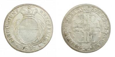 Svájc Frieburg gulden-56 krajcár 1797