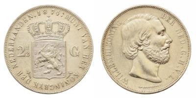 Hollandia 2-1/2 Gulden 1874