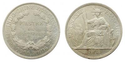 Francia Indokína piaszter 1908