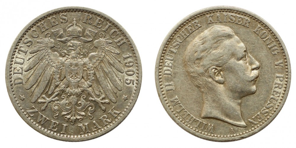 Poroszország 2 márka 1905