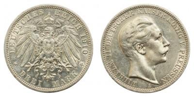Poroszország 3 márka 1910