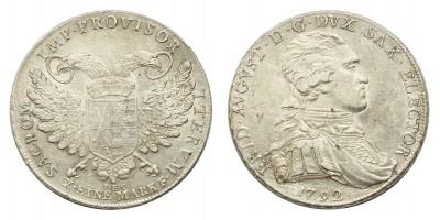 Sachsen Frederick Augustus (1763-1806) taler 1792