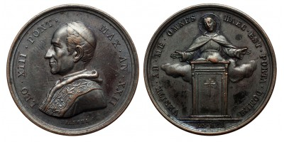Vatikán XIII. Leó Szent Év emlékérem 1900
