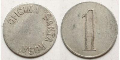 Chile nitrát bánya bárca 1 peso én.