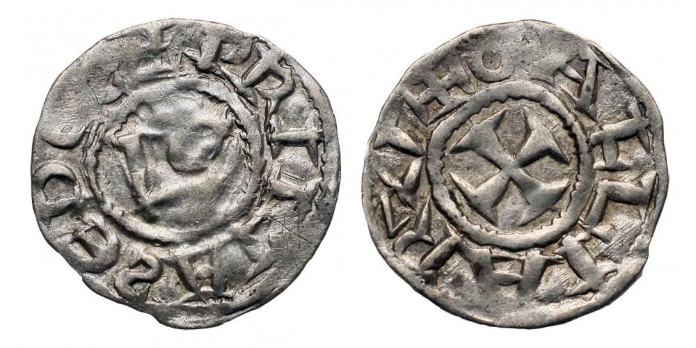 Franciaország Lyon érsekség denár 11. század