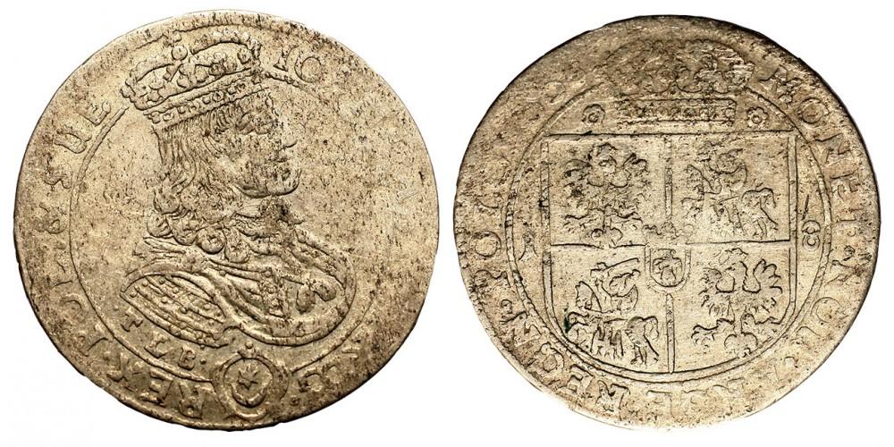 Lengyelország II. János Kázmér ort 1668 Krakkó