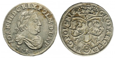 Sobieski János 6 groschen 1682 TLB