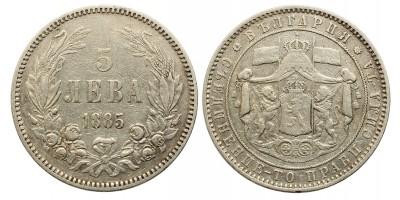 Bulgária 5 leva 1885