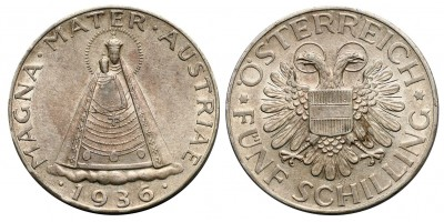 Ausztria 5 schilling 1936