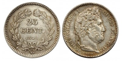France Louis Philippe I. 25 centimes 1847 A