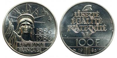 Franciaország 100 frank 1986 PIEDFORT