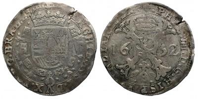 Belgium Brabant IV. Fülöp patagon 1652 Brüsszel