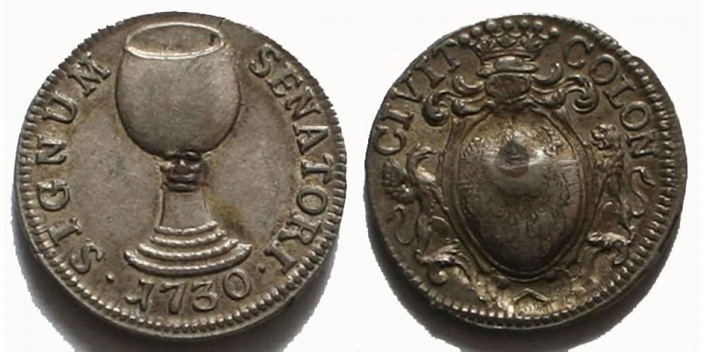 Németország Köln ezüst bárca 1730 R!