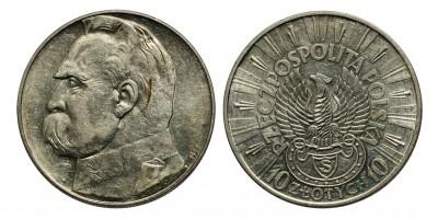 Lengyelország Pilsudski 10 zloty 1934