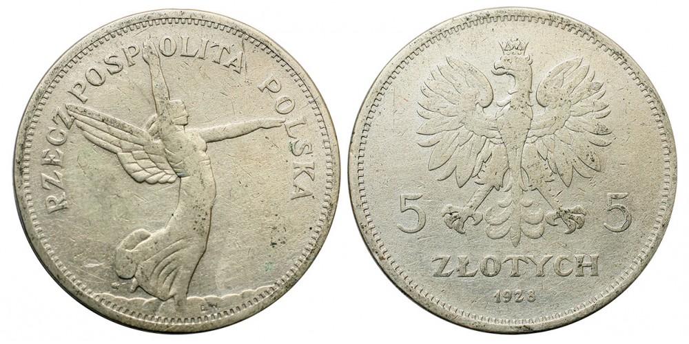 Lengyelország Nike 5 zloty 1928 R!