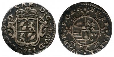 Belgium Lüttich / Liege 1/2 escalin 1751